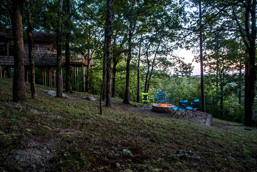 Enjoy the Kiamichi Mountain Sunset at Peckerwood Knob Cabins in Oklahoma