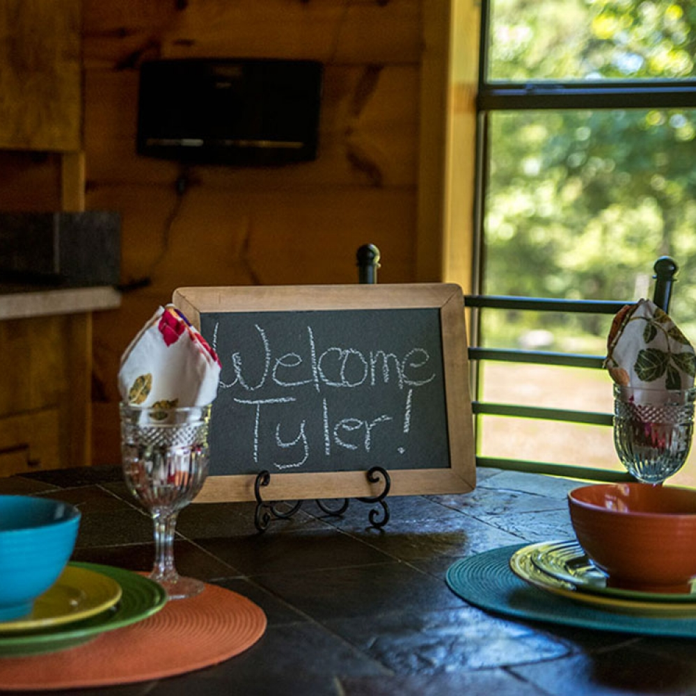 Welcome to your secluded mountaintop cabin retreat at Peckerwood Knob Cabins in Oklahoma